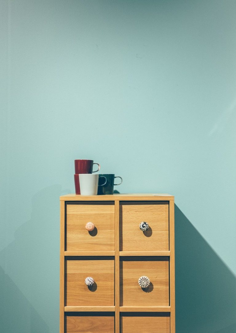 minimal, furniture, drawers