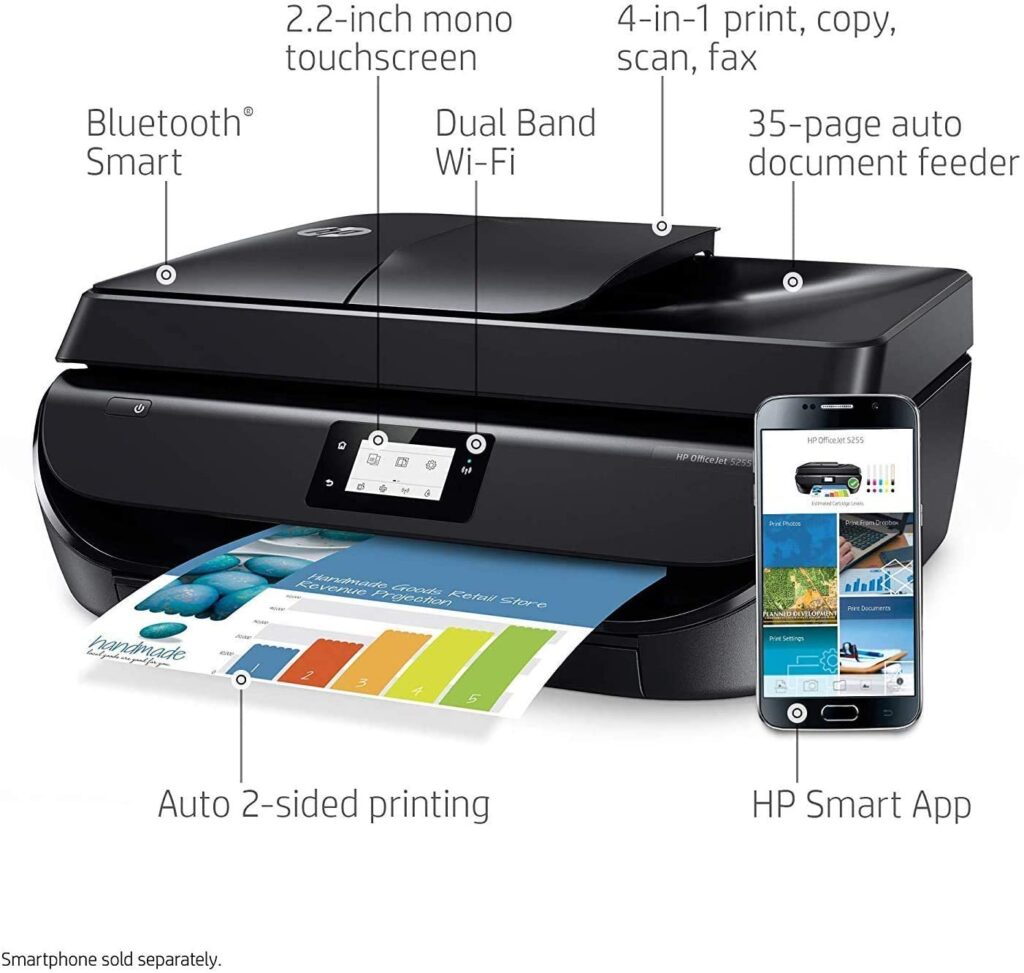 HP Office Jet 5255 Best Compact Wireless Printer